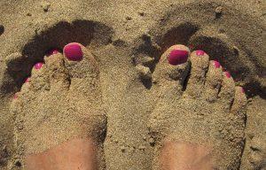 gommage des pieds...